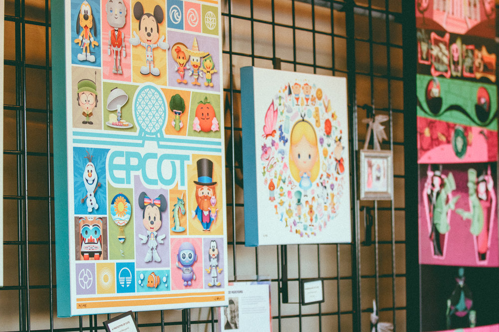 Speaking of friends, visit the Festival Market scattered around Epcot for canvases, framed art, and postcards featuring some of Disney's beloved characters.