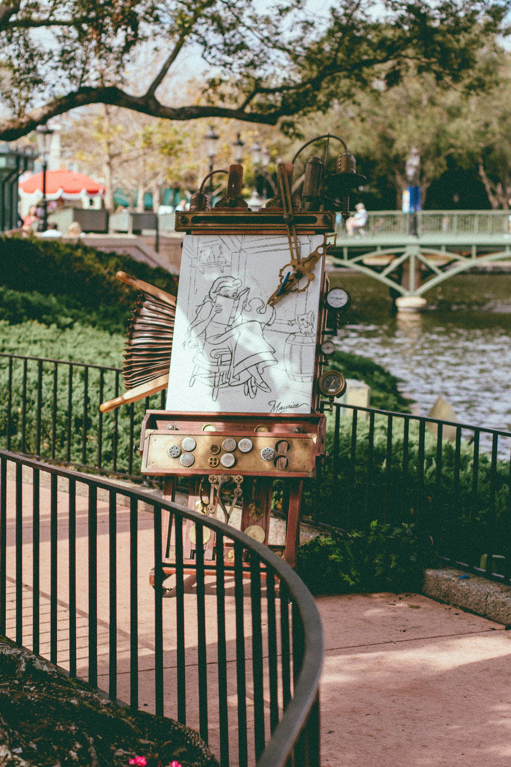 While visiting the Pavilions, be sure to find character easels.