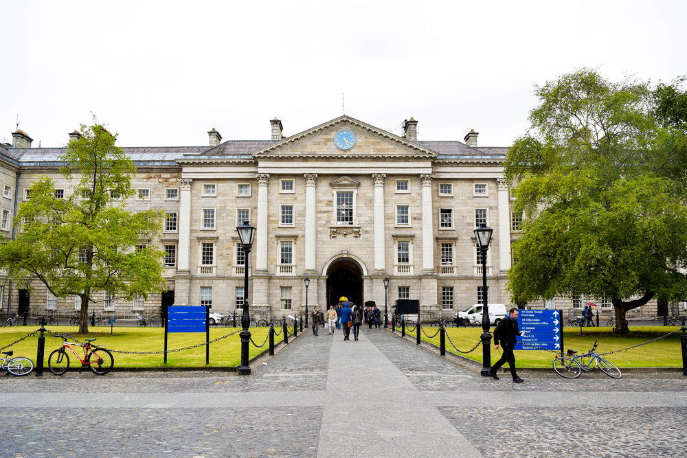 "Trinity College, one of the most famous parts of Dublin, or as our Irish friend described it, a ""posh tourist spot."" (We thought it was pretty cool.)"