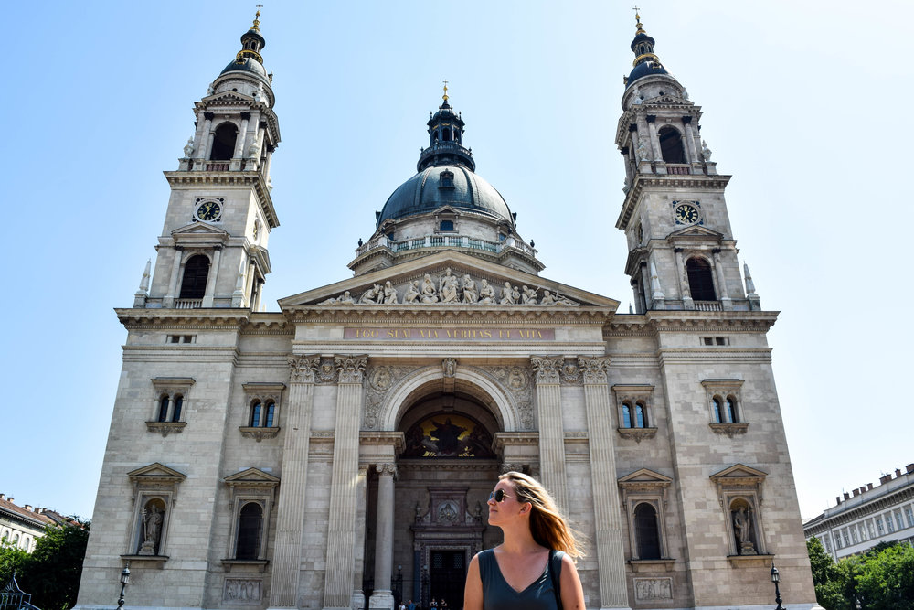 St. Stephen's Basilica, one of the many buildings it was too damn hot to hang out in front of for very long.
