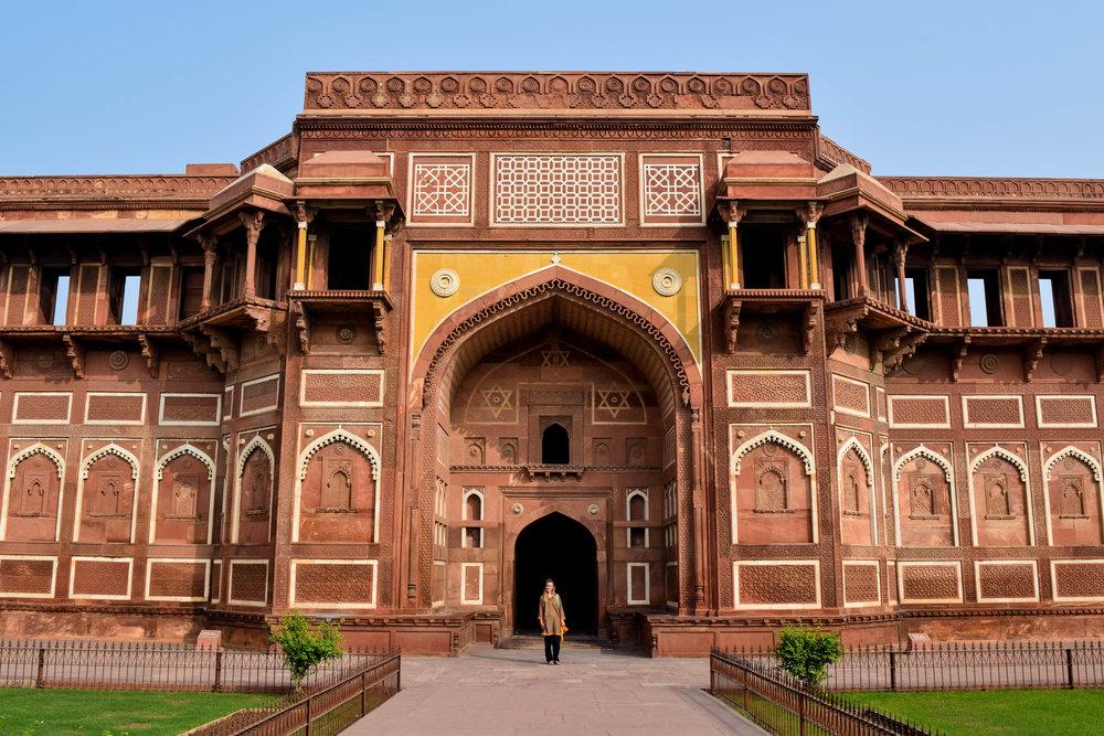 Little me in a big doorway (Agra Fort)