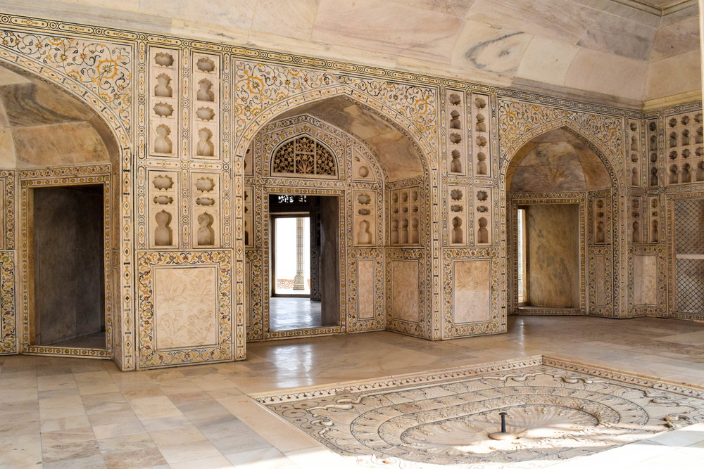 We don't have any pics of our train ordeal, so enjoy some more from the pretty parts of Agra (this is at the fort).