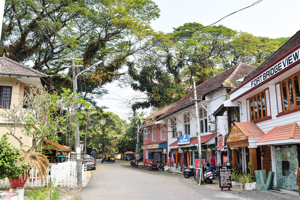 Another cute little street in Fort Kochi. Not pictured: 80% humidity.