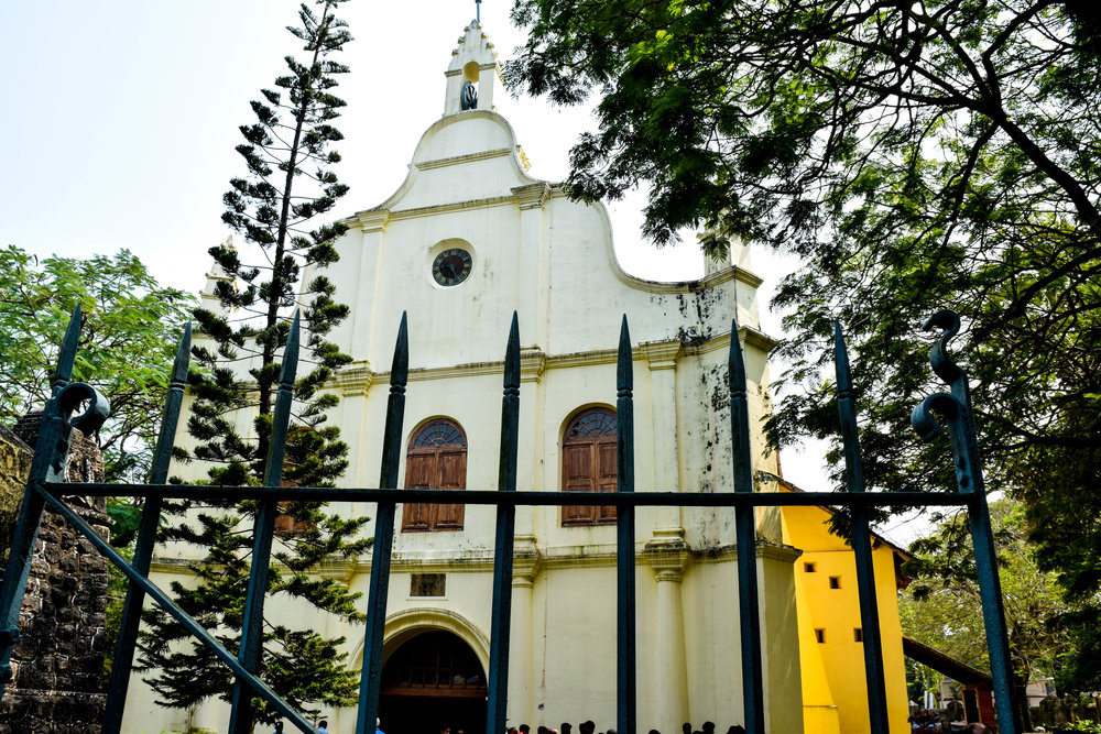 One of the many old churches throughout Fort Kochi.