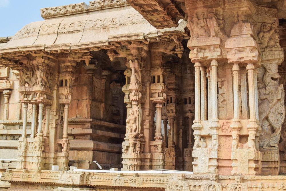 Exploring the Vittala Temple complex.