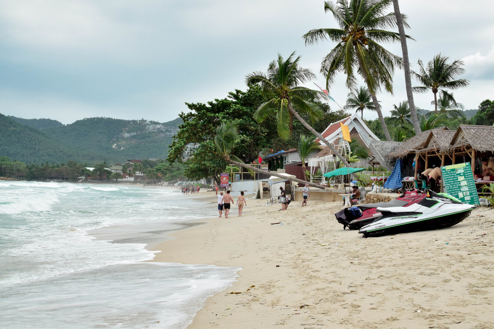 Chaweng Beach, our home base. See those storm clouds? They were there the WHOLE TIME we were on Samui.