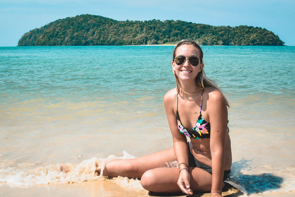 Happy beach person.
