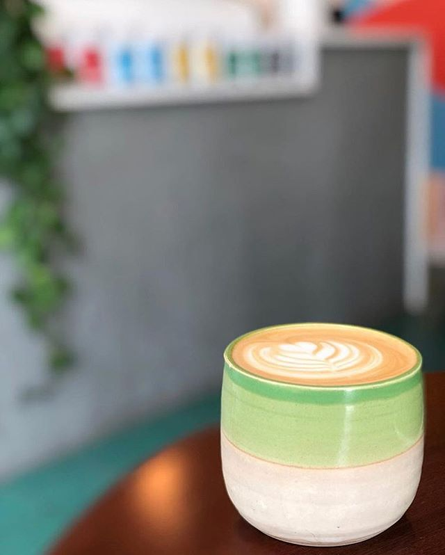 The Oregon is hitting the mark today. 💚 Each week, our signature latte's have to be carefully crafted to balance the unique flavors from our espresso with each drink's amazing ingredients. #alwaysdrinknever #neverlab // this photo from @prizzi__