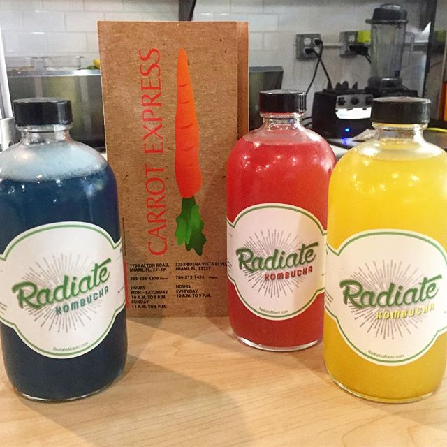 oh heeeeey @carrotexpress 🥕is that @radiatemiami #kombucha in your cooler?!? #YES it IS!!! stop by @carrotexpress #midtown #miami for your #bucha fix! 🌱☀️#radiate #radiatemiami #radiatekombucha #firstmidtownaccount #midtownmiami