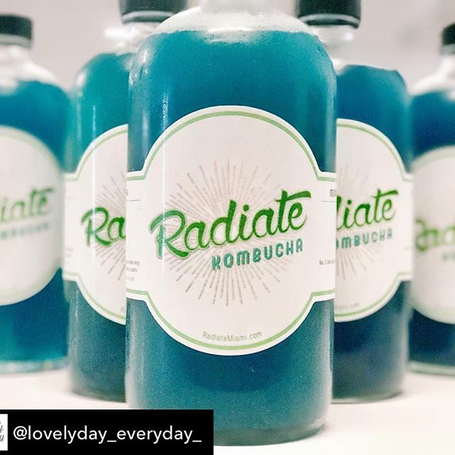 "🙌🏾🌊🌱☀️Repost from @lovelyday_everyday_ using @RepostRegramApp - Super excited to have @radiatemiami in the house 💦🙏🏻 will be receiving monthly deliveries of this #mermaidmajik kombucha. 💙 People ask me a lot ""what is kombucha and why is it good for you?"" Personally I've been drinking kombucha for 14 years... no lie! 💙 ✨ kombucha has been around for 2,000 years, the ancient Chinese called it the ""Immortal Health Elixir."" It's made from sweetened tea that's been fermented by a symbiotic colony of bacteria and yeast.  Benefits ✨ * detoxification- rich in many of the enzymes and bacterial acids your body produces and/or uses to detox your system which reduces your pancreatic load and eases burden on your liver. * Joint Care - contains glucosamine which is a strong preventative and treatment for all forms of arthritis. * aids in digestion and guy health - because it's fermented with a living colony of bacteria and yeast, it's a probiotic beverage. * immune boosting - rich in anti~oxidants 💙 Just a couple benefits, there are many many more! ✨💦✨💦 * * * * * * #lovelyday #liveyourlifestyle #lifestyle #kombucha #miami #probiotics #cleaneating #healthy #healthyeating #healthyliving #healthylifestyle #wellday #wellness #wellnesstips #organic #glutenfree #selflove #selfcare #miami #happiness #eatclean #flow"