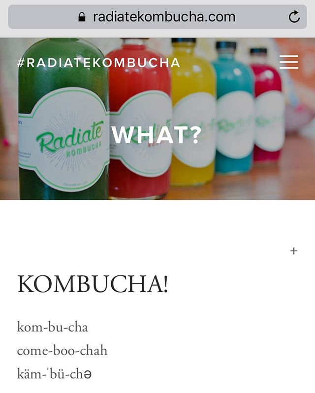 great news y'all!!!! radiatekombucha.com is live! ☀️🌱#radiatekombucha