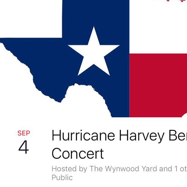 #HurricaneHarvey Benefit Concert Monday @wynwoodyard