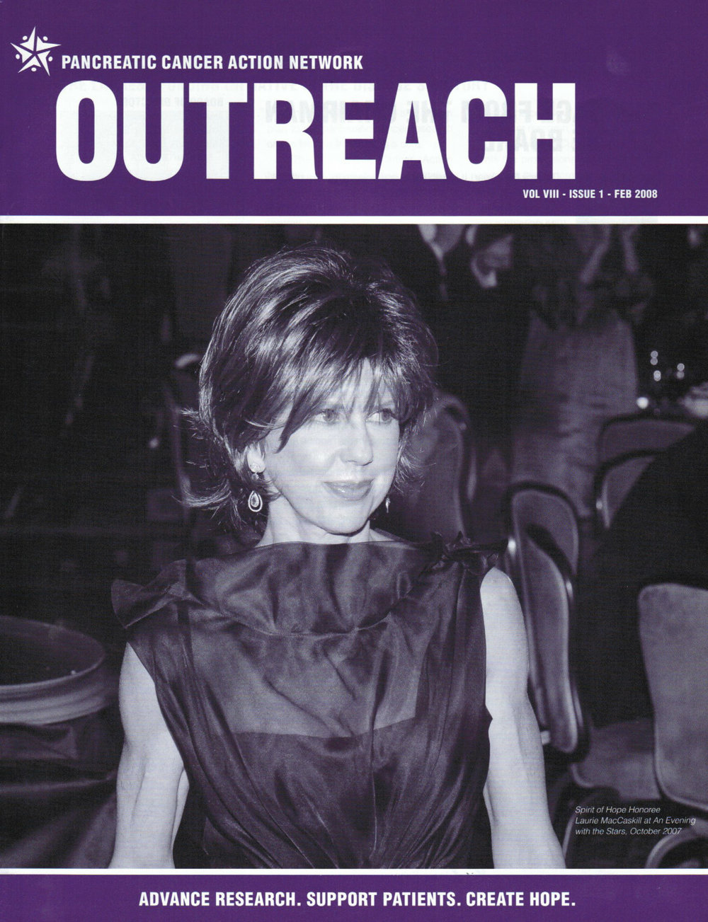 Laurie MacCaskill Featured in February 2013 Issue of PanCan Outreach Magazine