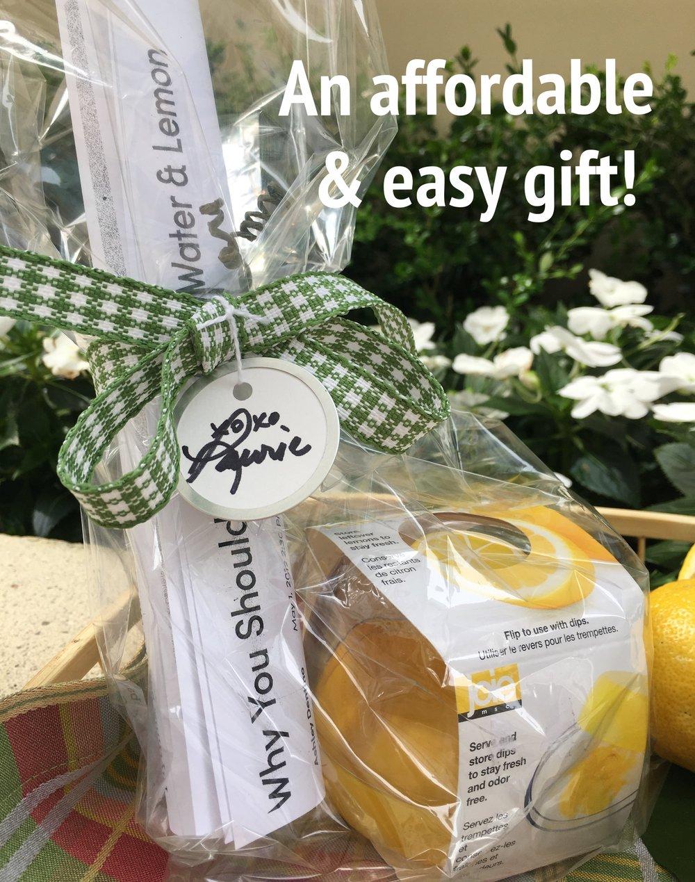 Gift Idea: Lemon Pod + Printout of Lemon Water Article. Just wrap and add a ribbon!