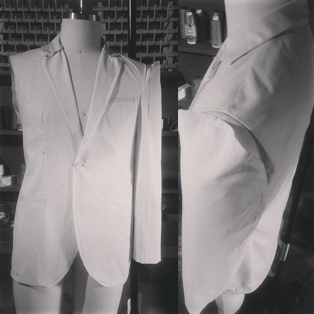 We have been restructuring the #milanomai garments to best meet the need of the #modernmen. 1st draft of the #suit. #patternmaking other sleeve # bespoke #dapper #luxury #seattleartist #mensfashion #sharp #fashionblogger #fashiondesigner #seattlegents
