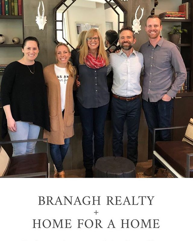 So fun to have our @homeforahome friends come by the office today! We are so proud to be a part of such a phenomenal organization. #homeforahome #branaghrealty #realestate