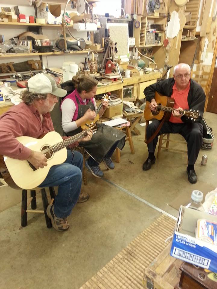 Picking a little with my dad and incredible fingerpicker Clay Lunsford