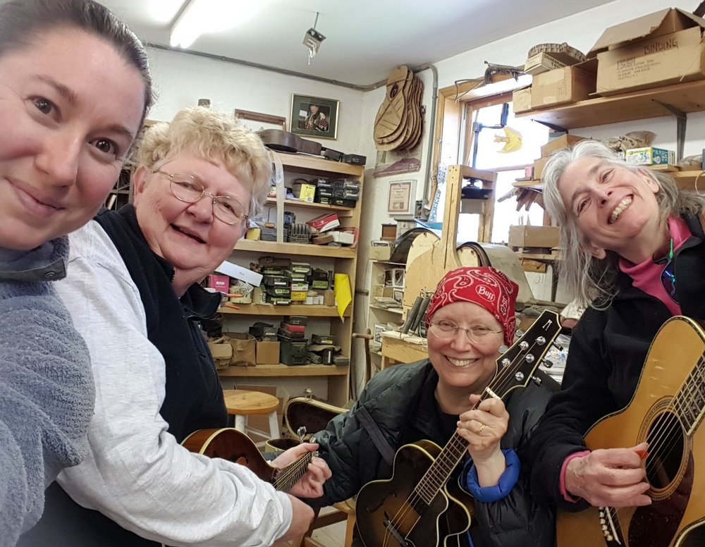 Kay Justice, Kathy Fink, and Marcy Marxer stop by to play some music