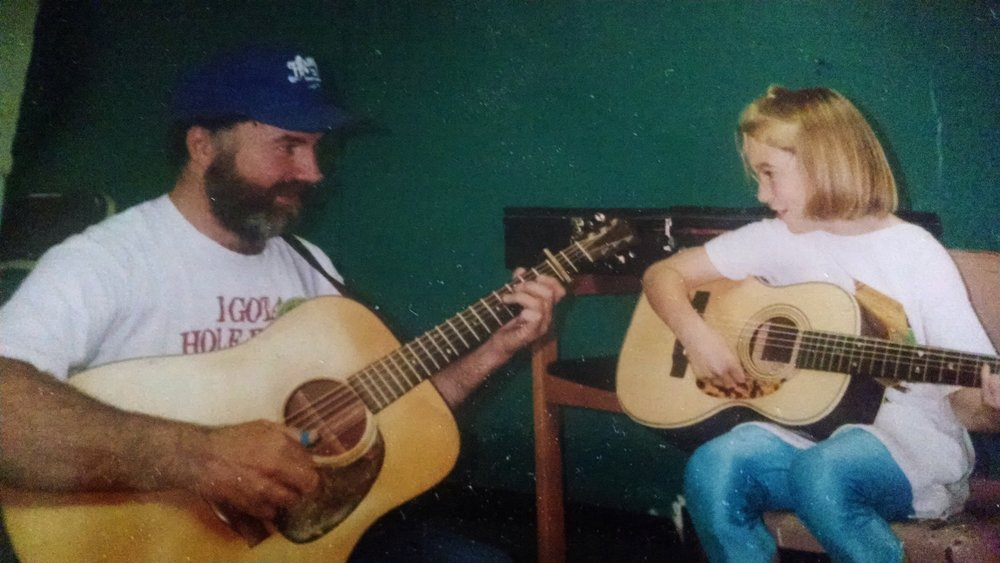 My dad teaching me to play my Henderson #123