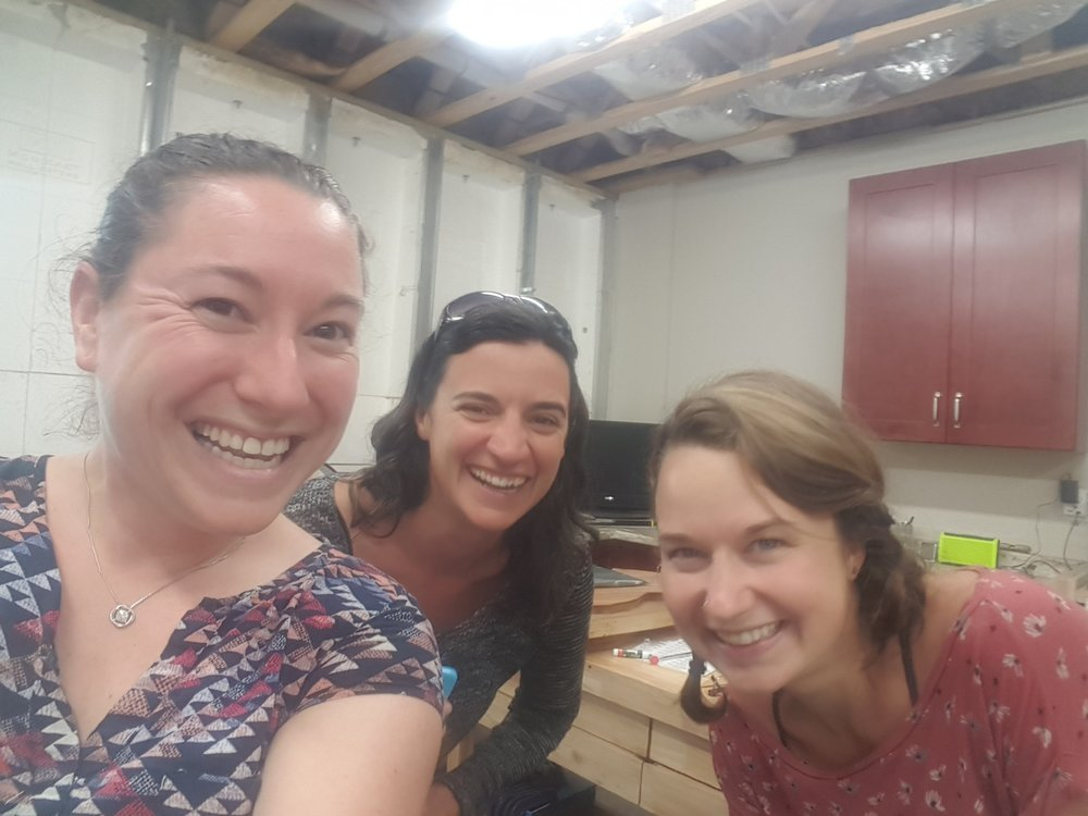 Jamie Stillway and Courtney Hartman visit my shop!