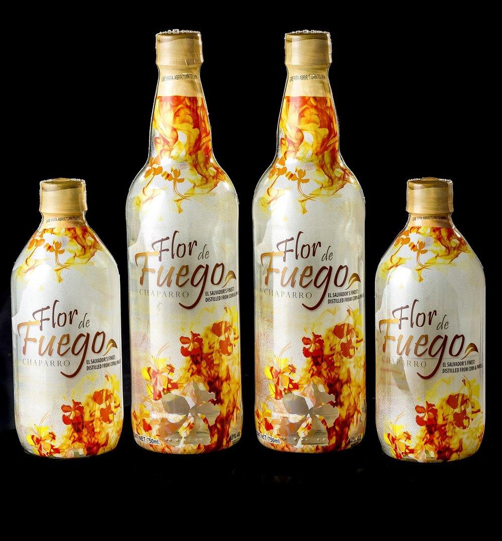 Chaparro Flor de Fuego, 750 ml y 500 ml