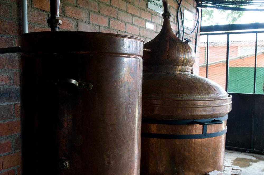 Process of Distillery of Chaparro, Sacadera Flor de Fuego, Guazapa