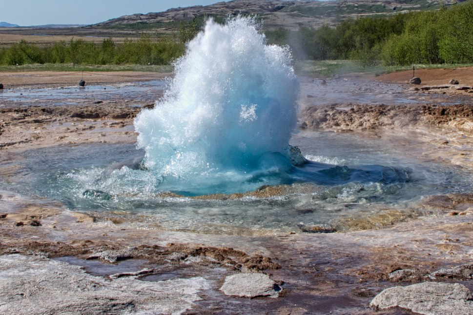 Photo of Strokkur Geyser in Iceland by Daniel (CC BY 2.0).  https://flic.kr/p/cdhfrA