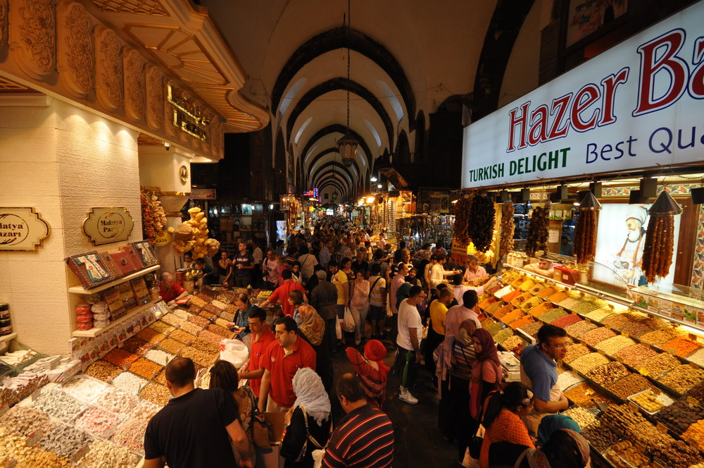 Picture of the Grand Bazaar in Istanbul by Jorge Láscar, via Flickr.