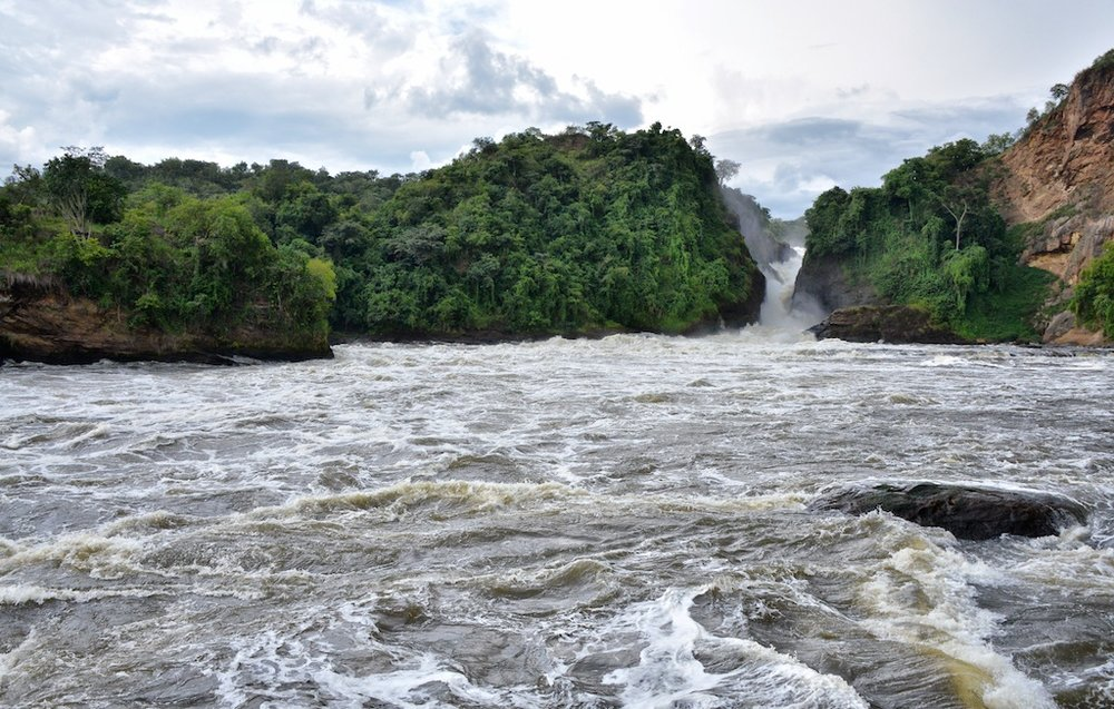 Photograph of Murchison Falls, Nile River, Uganda by Rod Waddington, CC BY-SA 2.0, via Wikimedia Commons.