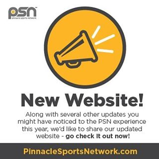 [NEW WEBSITE] We've been busy creating a new digital experience for you this year. As part of that we've updated our website. Go check it out now! PinnacleSportsNetwork.com  #WeArePSN #PSNchamps #youthathletics #youthsportsmarketing #fundraising #sponsorships #marketing
