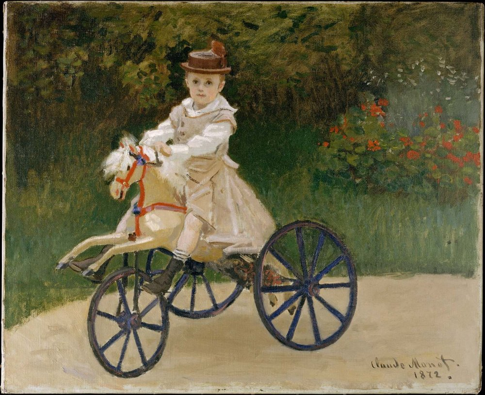 Jean Monet (1867–1913) on His Hobby Horse