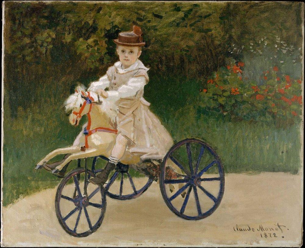 Jean Monet (1867–1913) on His Hobby Horse