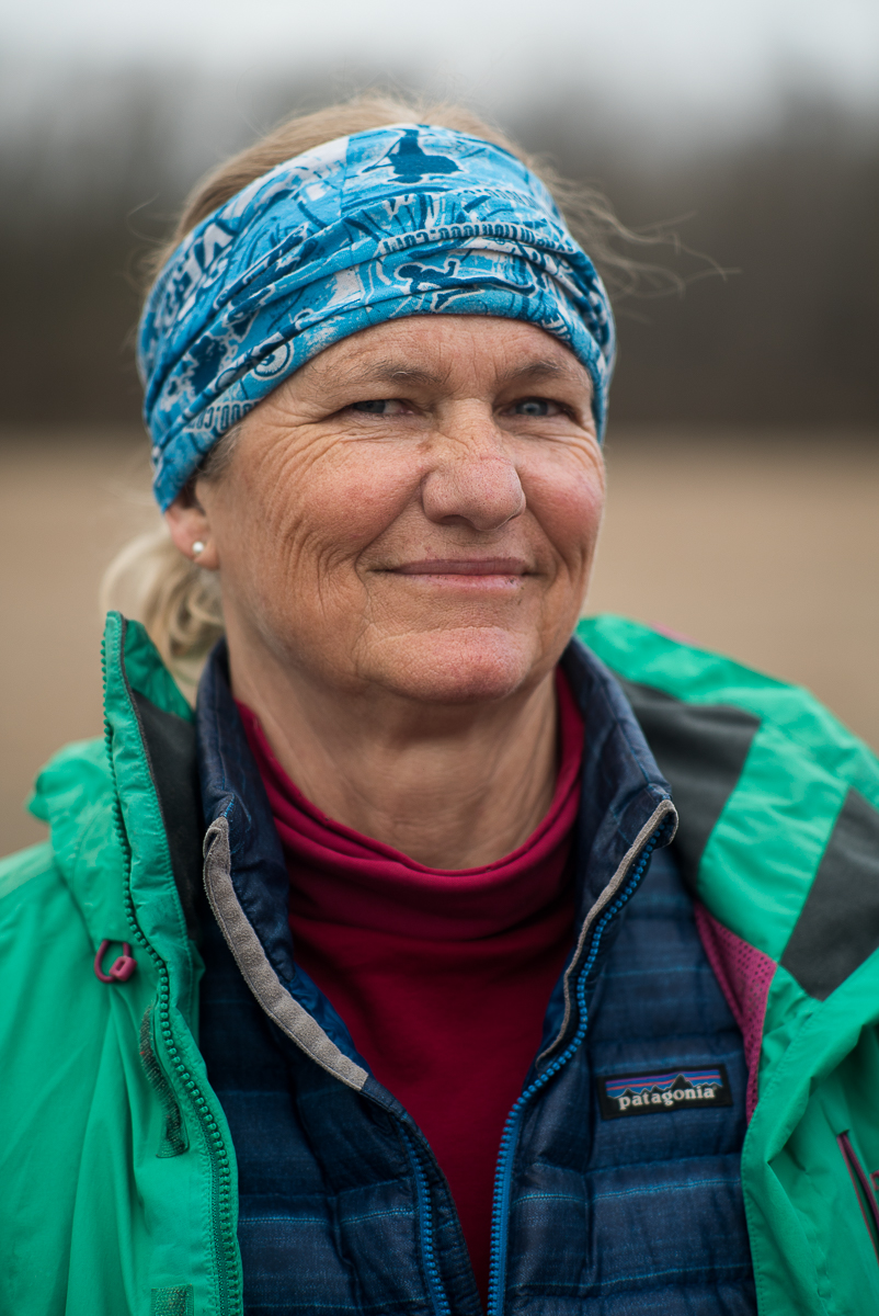 JANET MORELAND, St. Louis Support Guide - First woman and first American to paddle the entire Missouri-Mississippi River complex, solo, from source to sea. Aided from St. Louis to New Madrid, Mo.