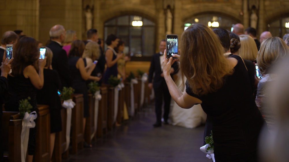 "*Please leave your cell phones, tablets, and ""smart"" watches at home for the wedding day.    We hired a photographer for a reason.  And she is great.  We just encourage everyone to be present! Thank you."