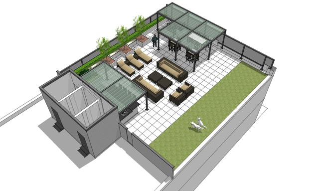 Possible roof top deck design