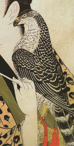 An Edo Period woodblock print of a hawk. ( Wikipedia Commons )