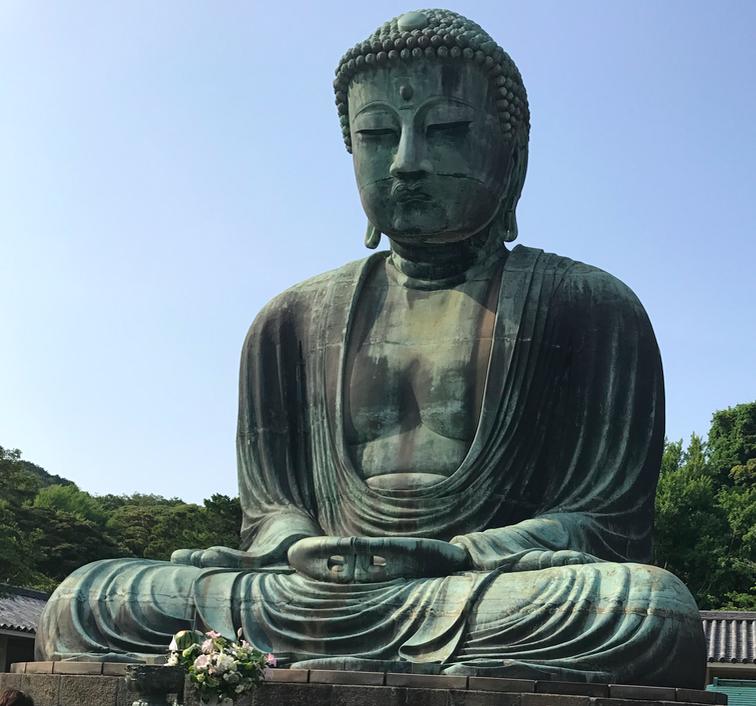 A contemporary image of the Great Buddha at Kamakura.