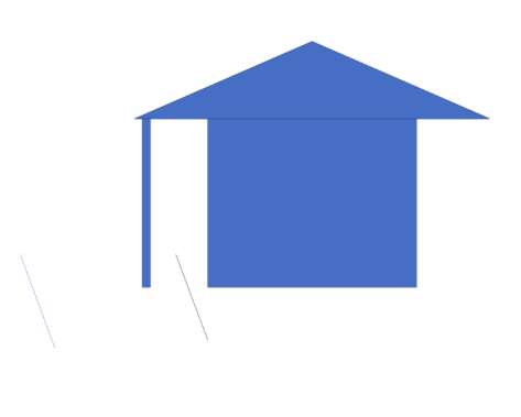 A diagram showing how eave and pillar construction could interfere with city streets.