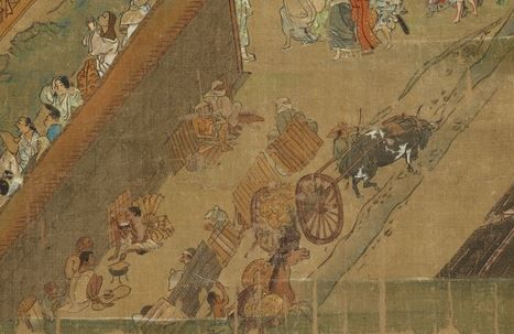 An oxen in the  Ippen hijiri e .