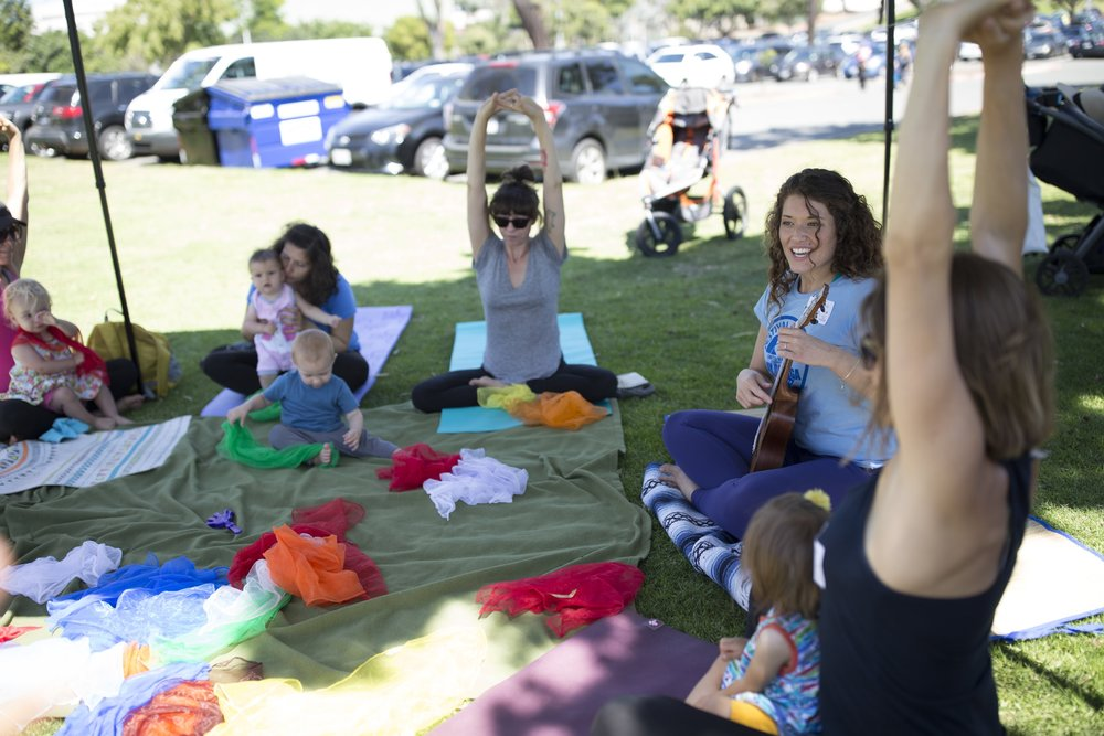 GROWING TOGETHER WITH MUSIC & YOGA FOR KIDS    Breakout Session 1 with      Seed & Song    Bring the little ones along for a fun, creative and inspiring session designed to get you moving and deepen the bond with your child (or nephew, niece, neighbor!) through asana (postures) and music.