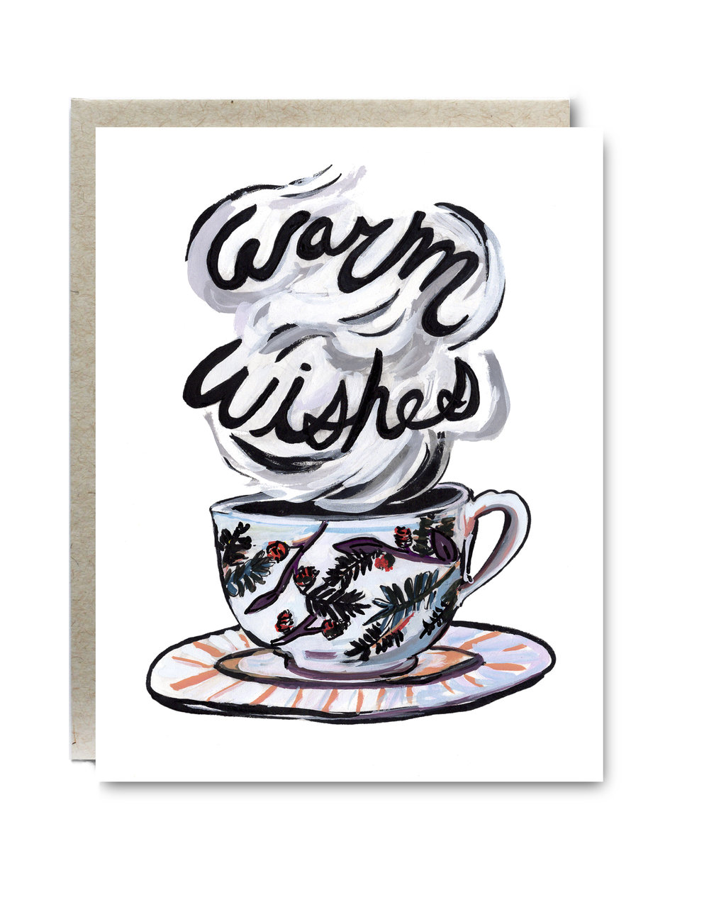 Warm Wishes Mug Card - $5.00