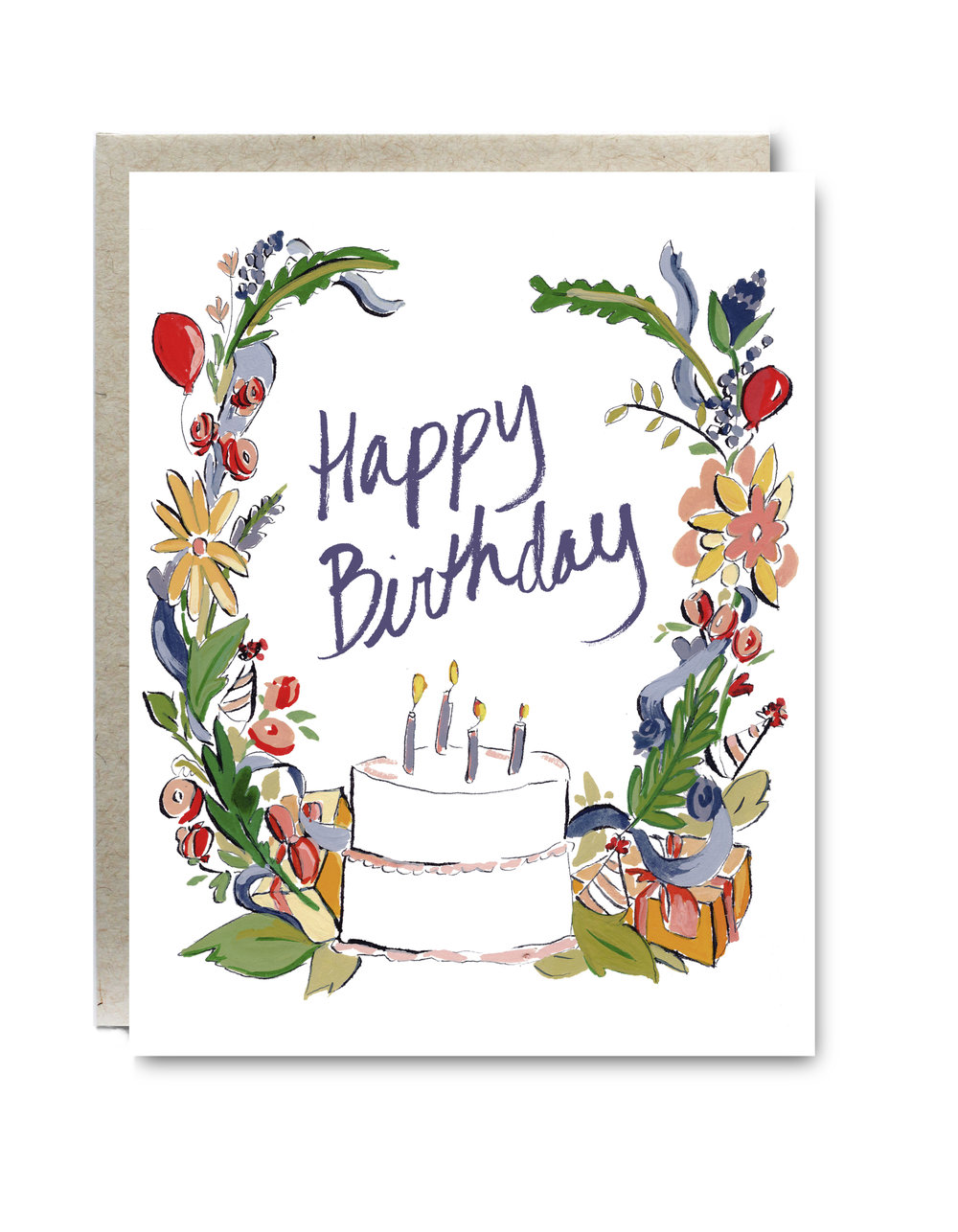 Happy Birthday Cake Card- $5.00