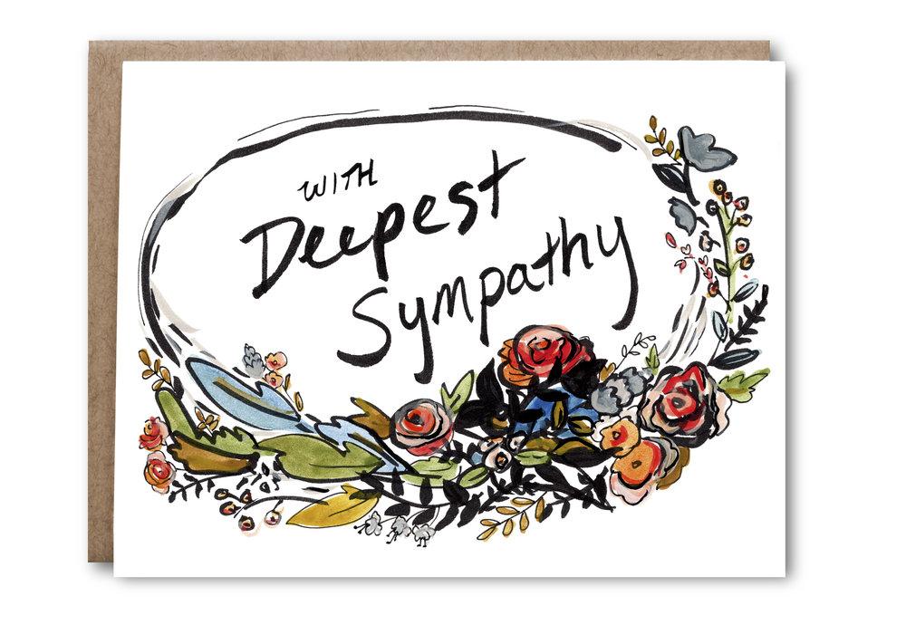 Deepest Sympathy Card - $5.00