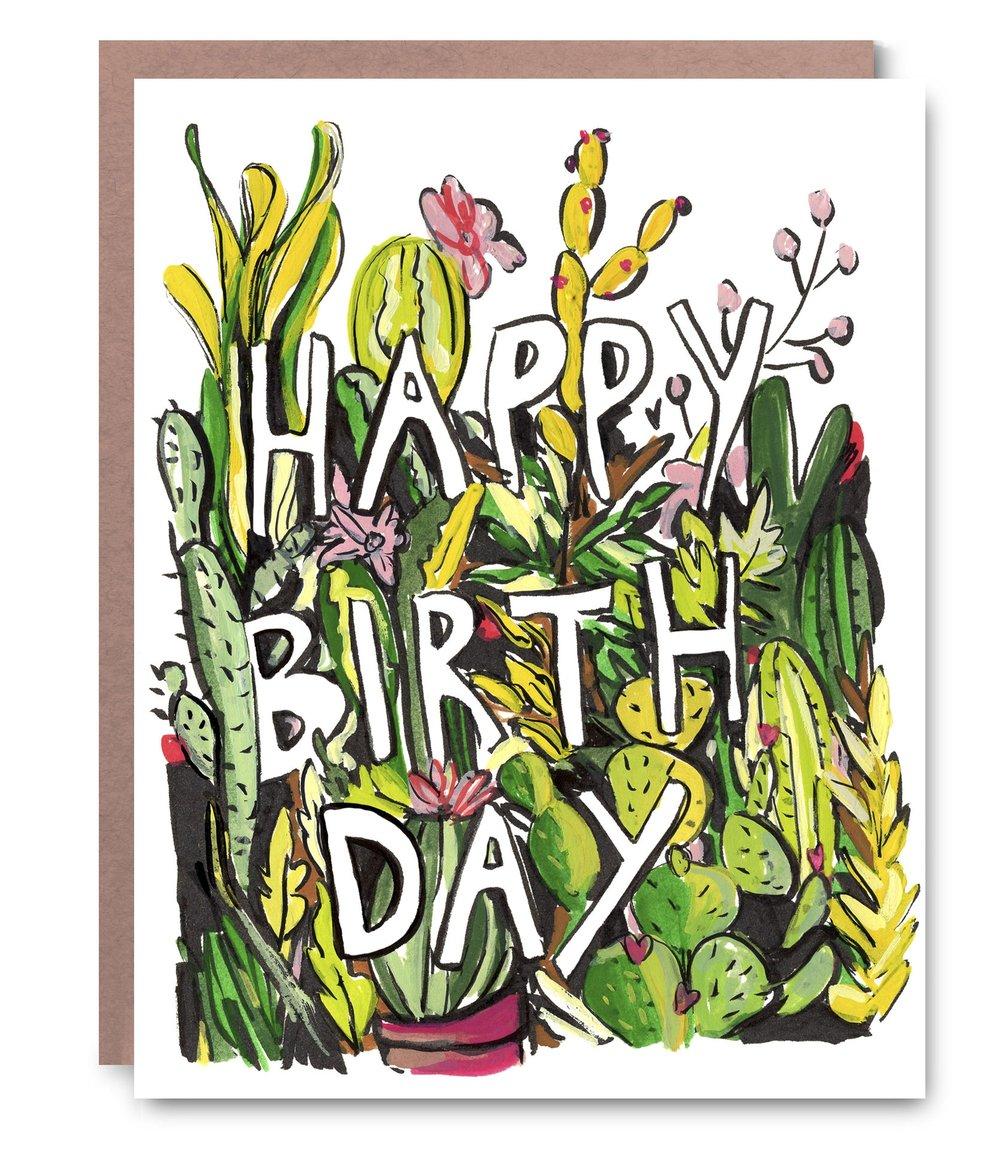 Cactus Birthday - $5.00