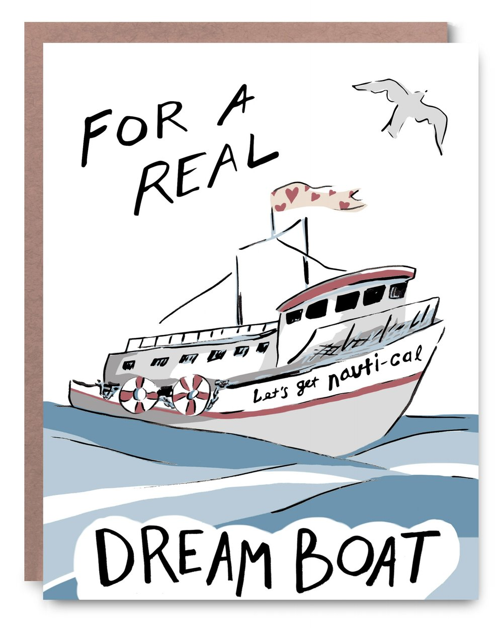 Dream Boat - Blank inside - 4.25 x 5.5""