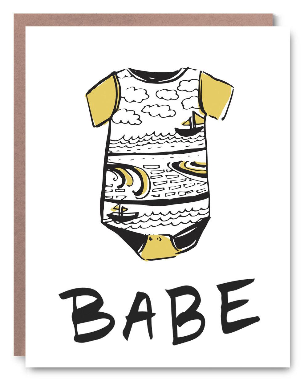 "Babe  - Blank inside - 4.25 x 5.5"""