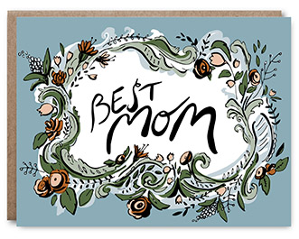 Best Mom - Blank inside - 4.25 x 5.5