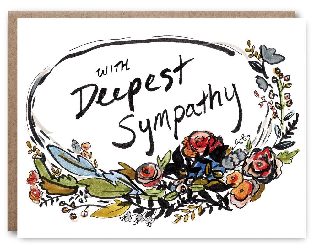 Deep Sympathy - Blank inside - 4.25 x 5.5