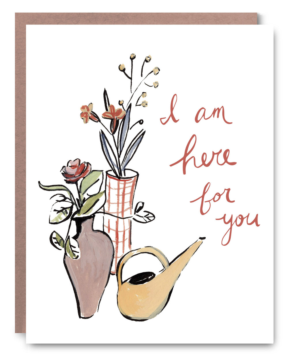 Here for You - Blank inside - 4.25 x 5.5
