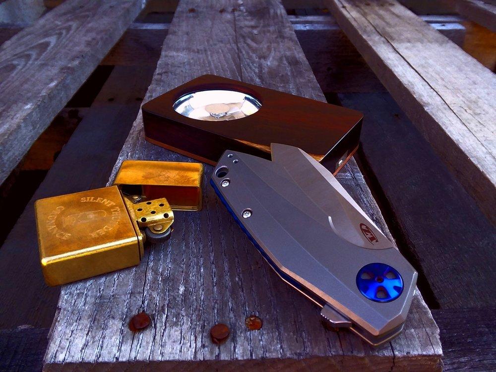 EoS in cocobolo/Cu, custom STO lighter, Zero Tolerance 0456